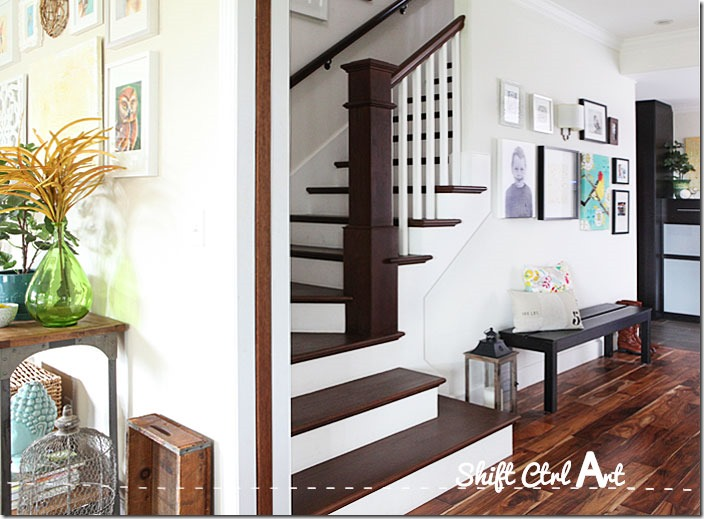 captivating stair living room dining | Feature Friday: Shift Ctrl ART - Southern Hospitality