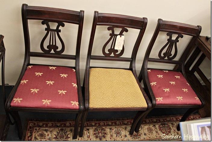 vintage harp chairs