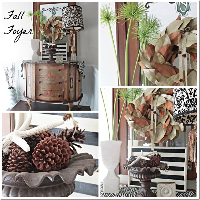 Fall foyer collage