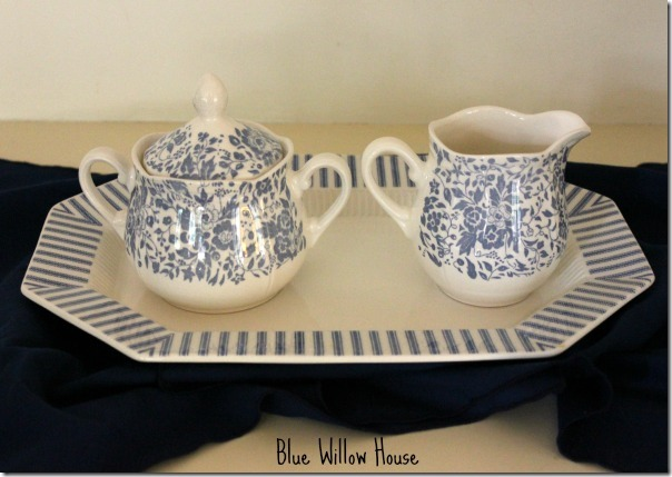 blue willow house Sugar-and-Creamer