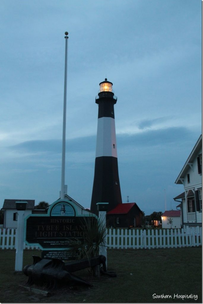 light house night