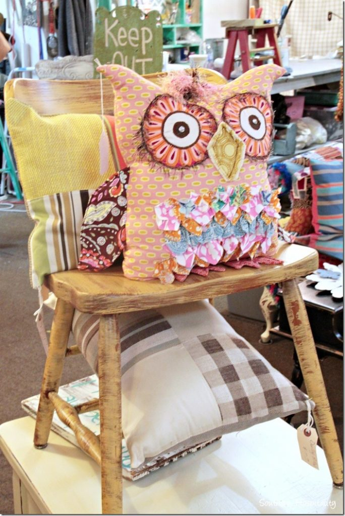 sew knot owl pillow