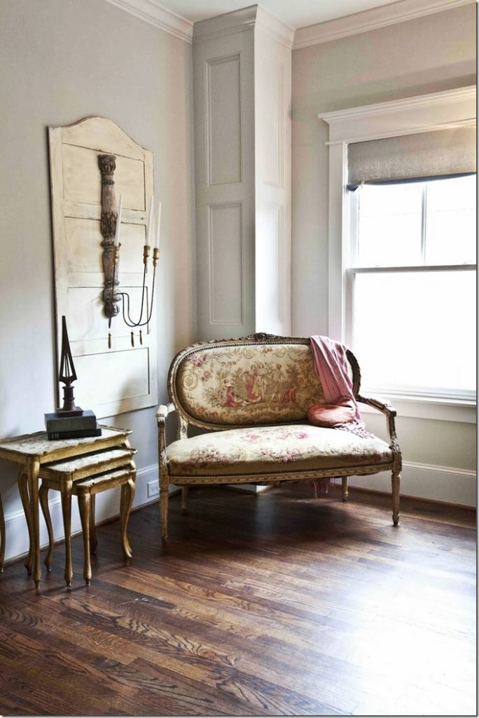 French tapestry settee