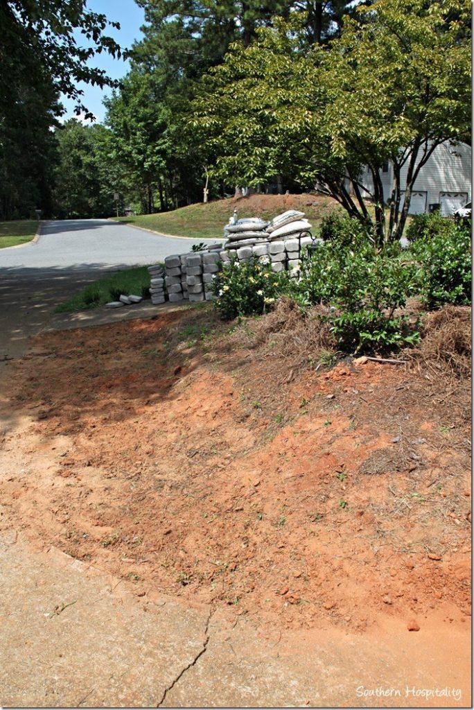 bank of dirt before