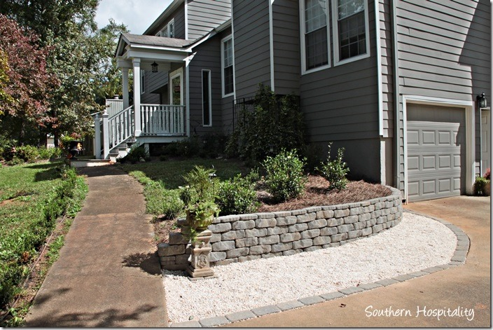 driveway and retaining wall