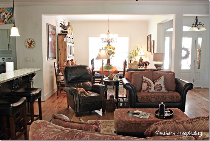 family room to dining