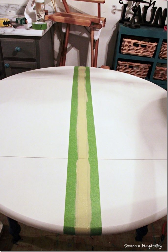 painting green stripe