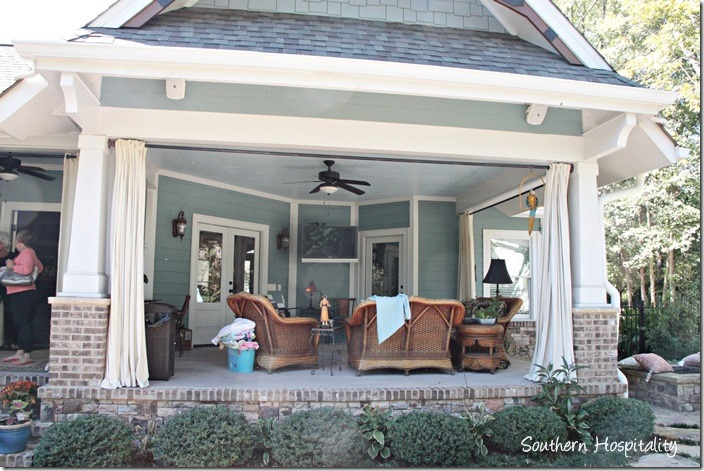 porch curtains and furniture