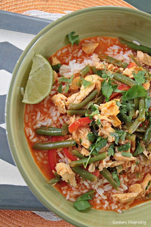 love the fresh ingredients in this dish, including green beans and ...