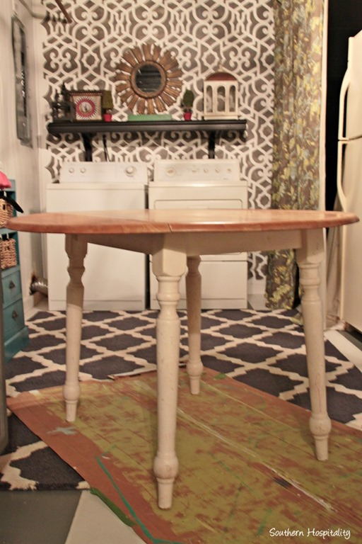 Drop Leaf Table Updated Cottage Style - Southern Hospitality Ideas For Painting Kitchen Table Drop Leaf on oval tables for kitchen, pedestal tables for kitchen, pub tables for kitchen,