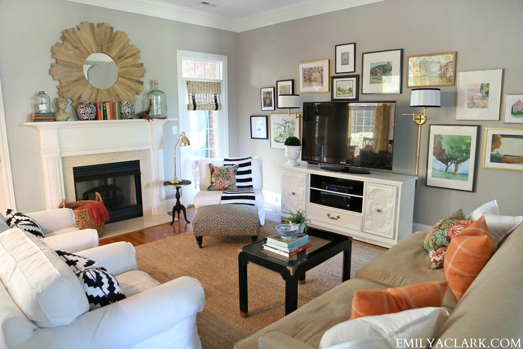 Feature friday emily a clark southern hospitality for Rearrange my living room
