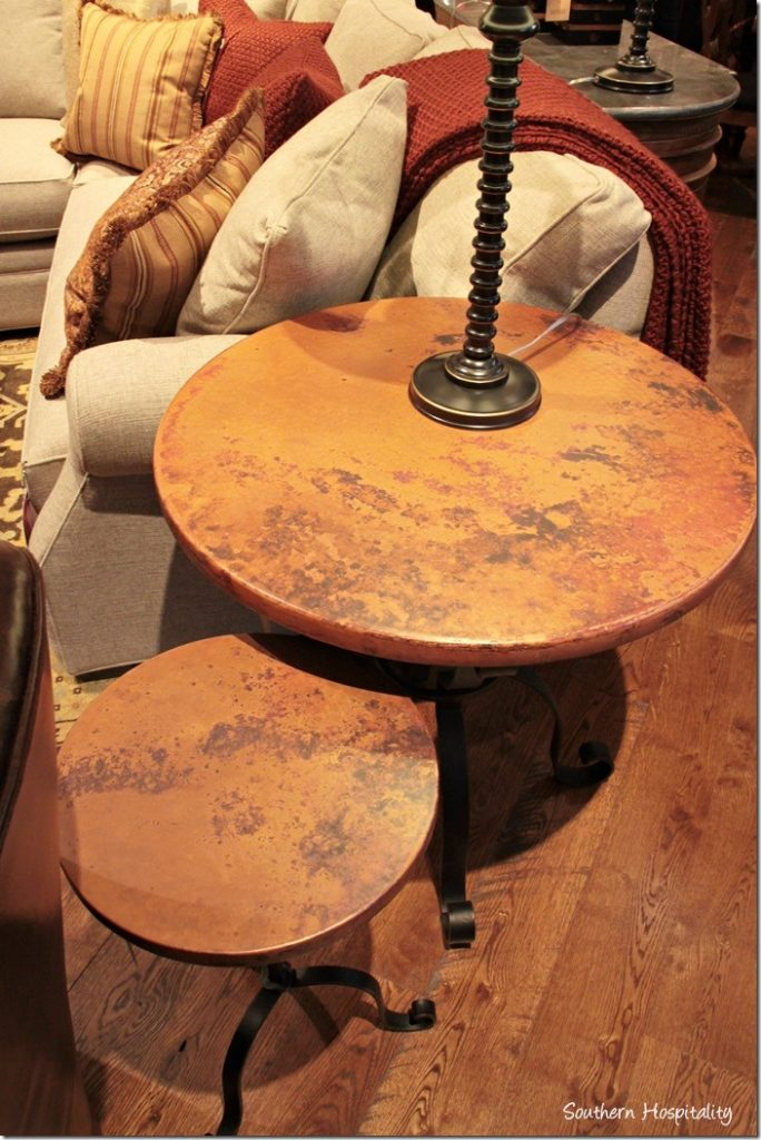 arhaus copper tables