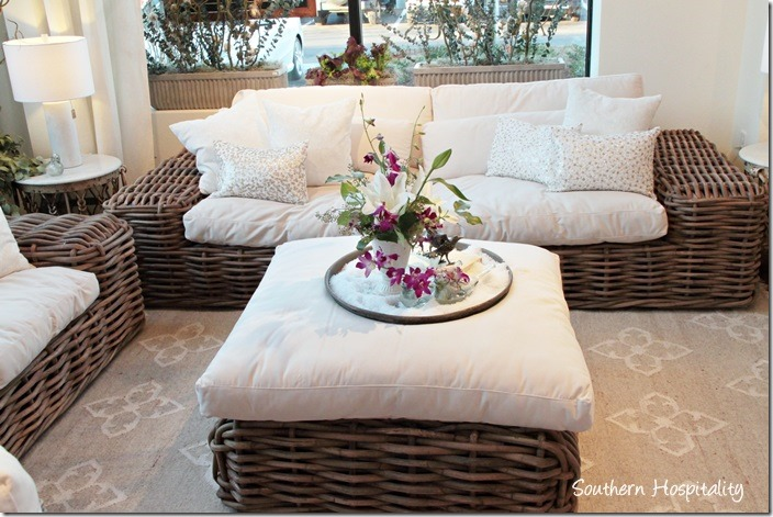 arhaus wicker seating
