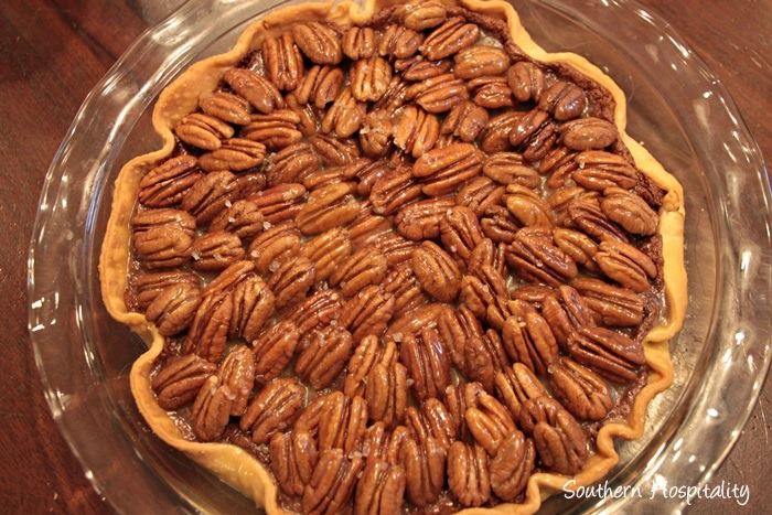 Mom made this delicious salted caramel chocolate pecan pie that was ...