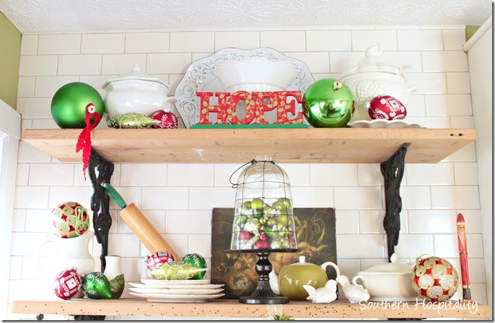 rustic shelves christmas 2