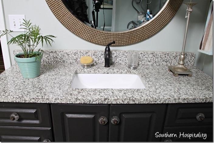 granite with undermount sink