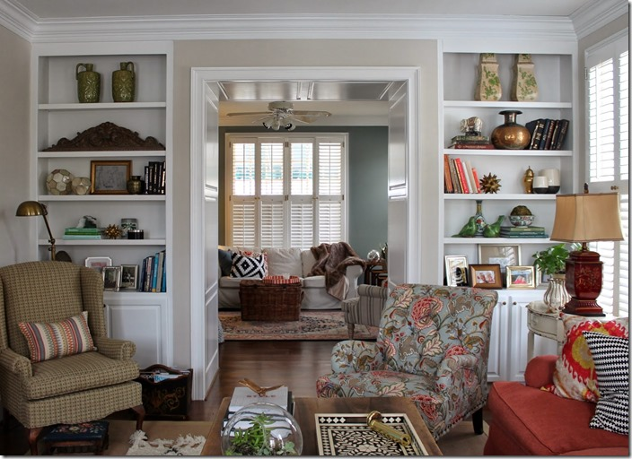 Feature friday designing domesticity southern hospitality - Living room built ins ...