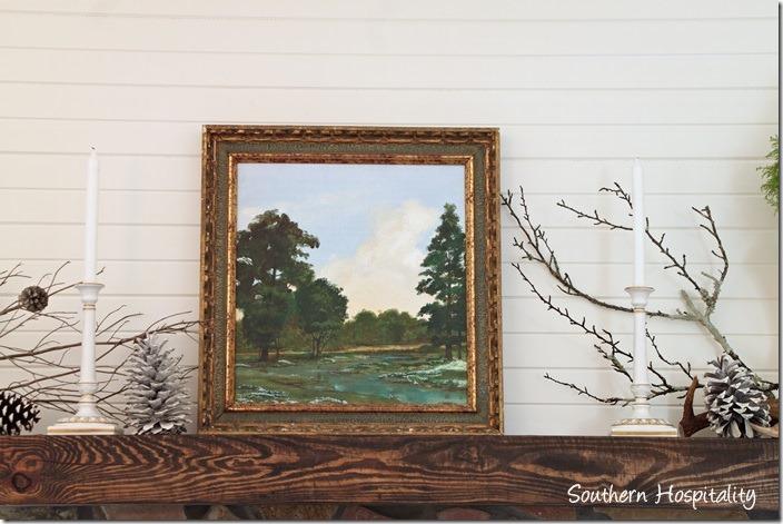 oil painting on mantel