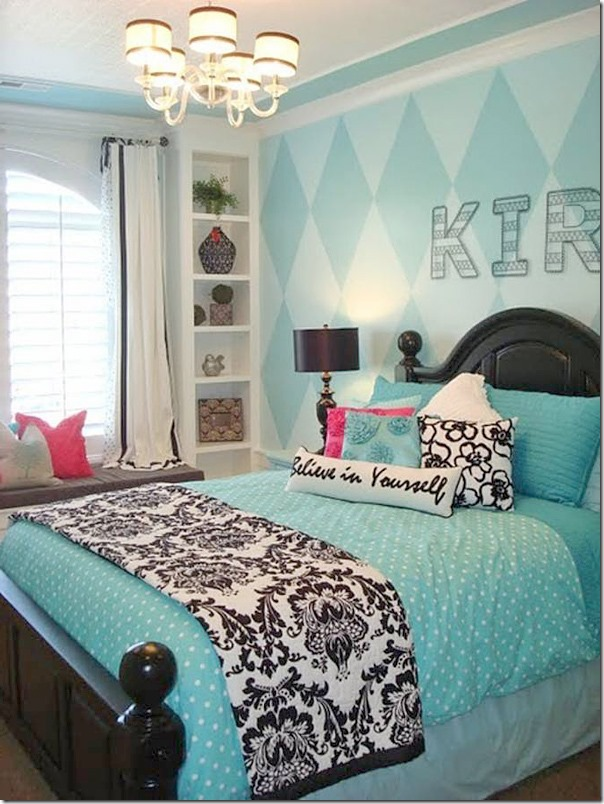 Decorating with black and white accents southern hospitality - Girls bedroom ideas blue ...
