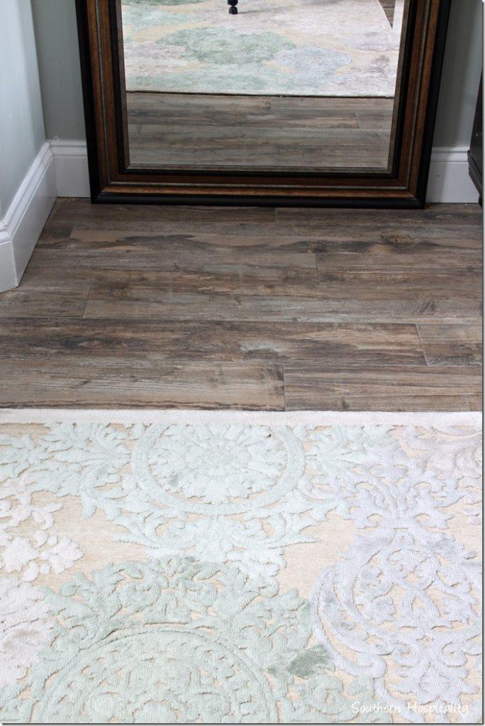 wood look tile close