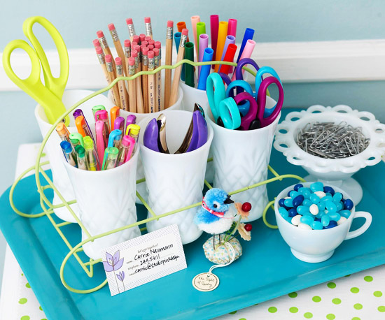 Perfect  Home Office Organizing Tools Via DesignSponge  Sexy Office Supplies