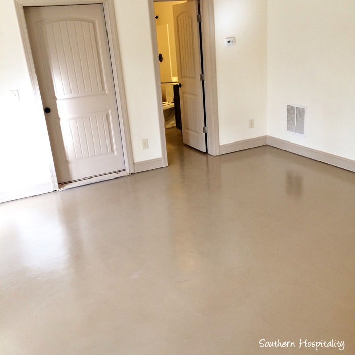 How to paint a concrete floor southern hospitality for Cement paint colors for floors