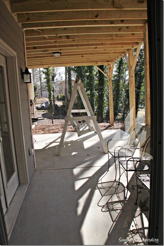 downstairs patio