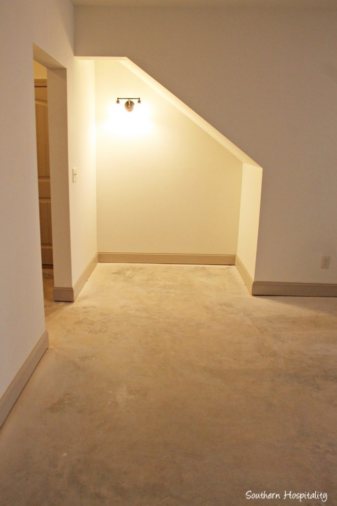 nook concrete floor basement