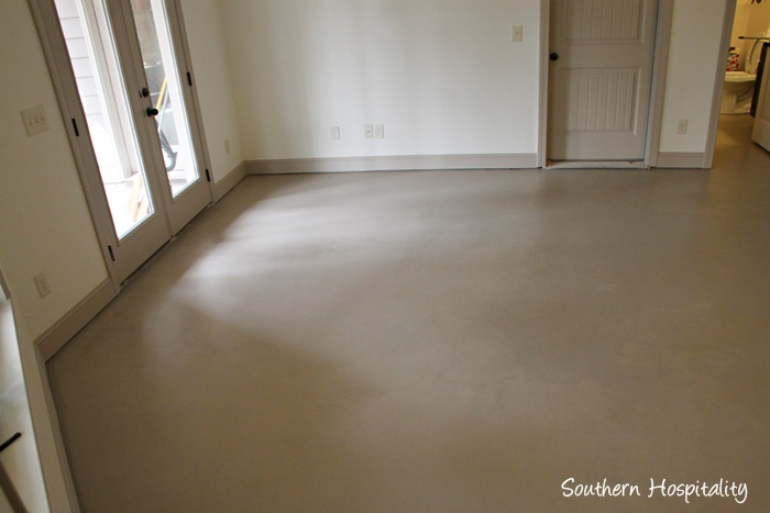 How to paint a concrete floor southern hospitality for Best concrete floor paint