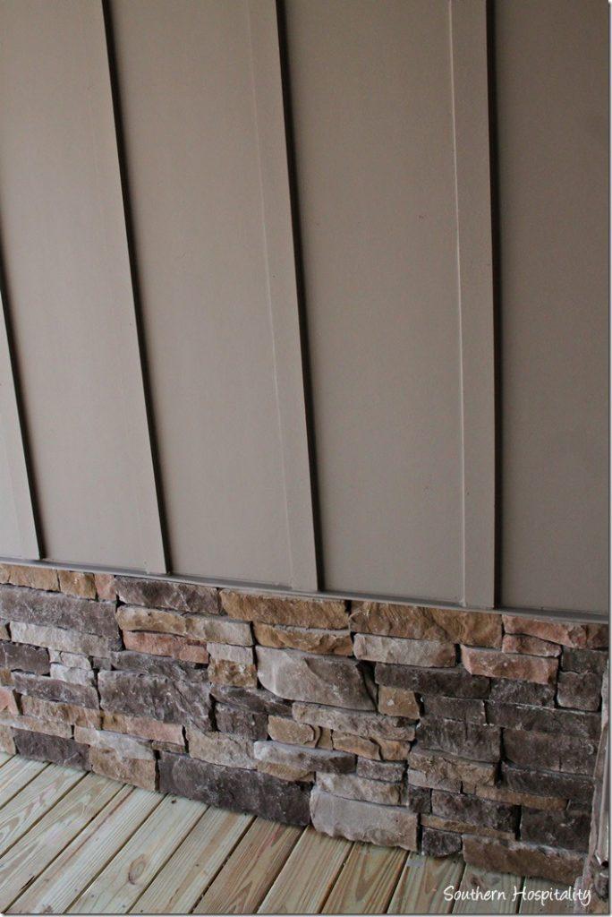porch stone and siding