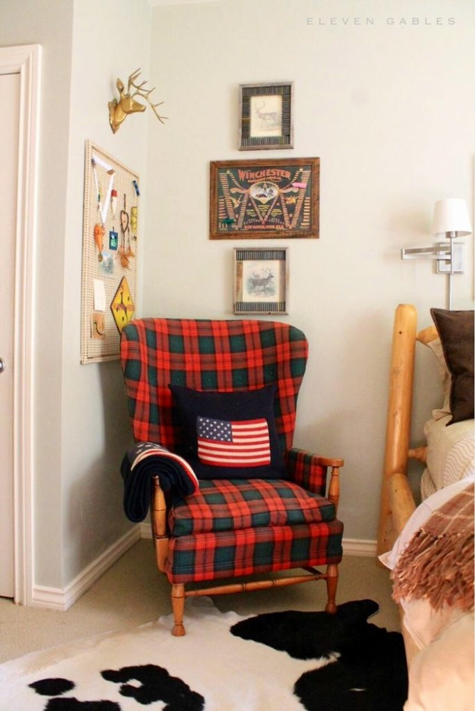 tween boys plaid chair