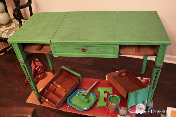 desk painted 1 coat