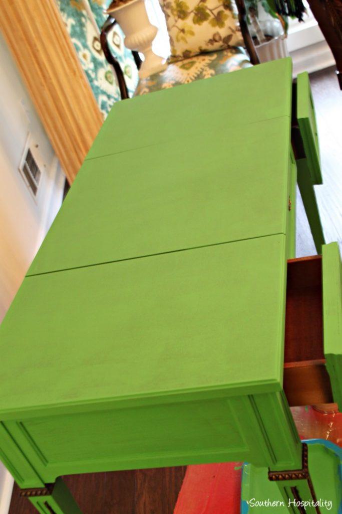 desk painted 2 coats