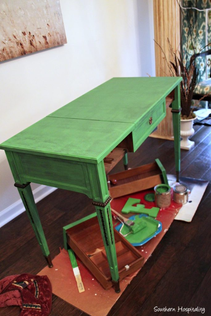 desk painted one coat