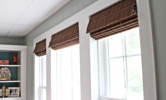 bamboo blinds in windows