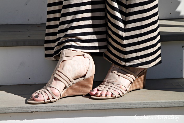 leather tan sandals