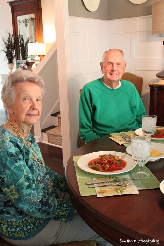 mom and dad at my house