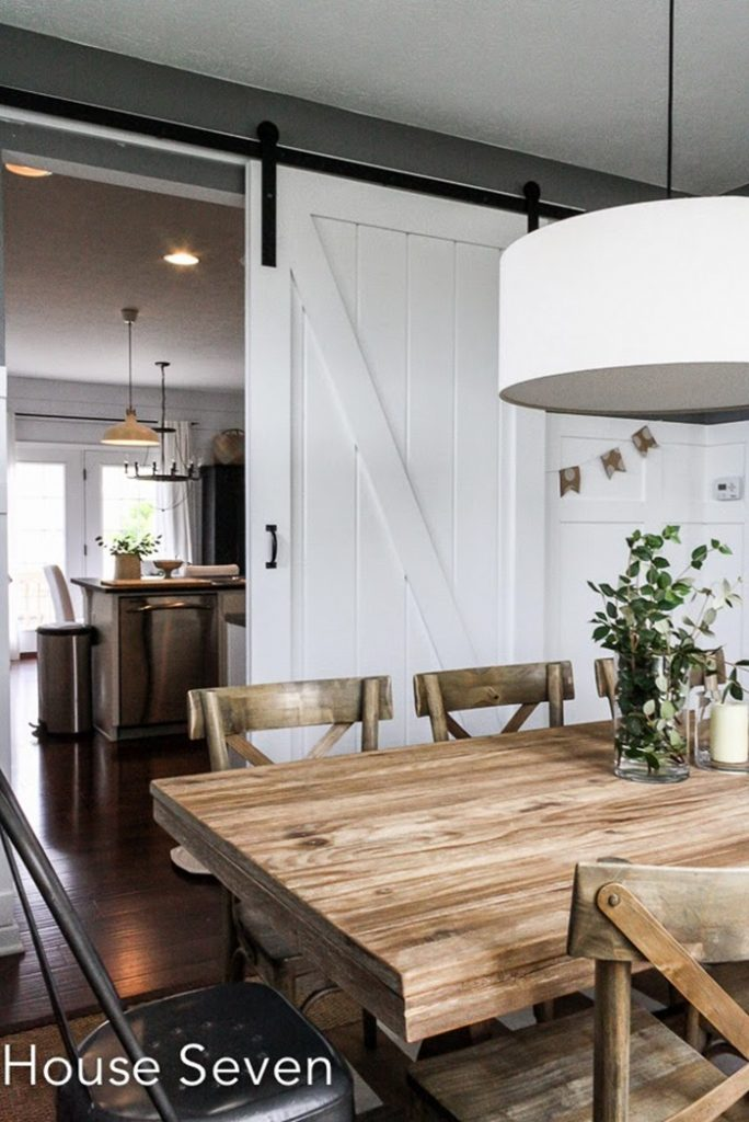 Let S Step Through The Sliding Barn Door To The Dining Room