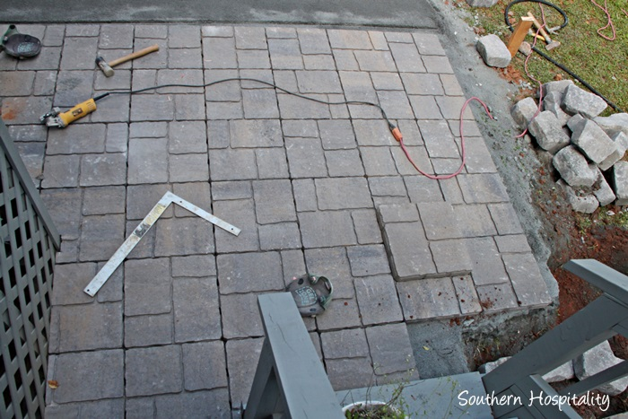 Filler For Stone Patio : The paver patio project southern hospitality