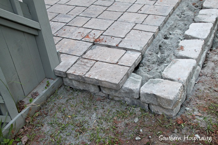 The Paver Patio Project Southern Hospitality - Paver patio steps