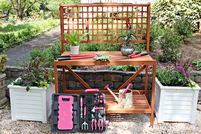 Potting Bench And Planters Southern Hospitality