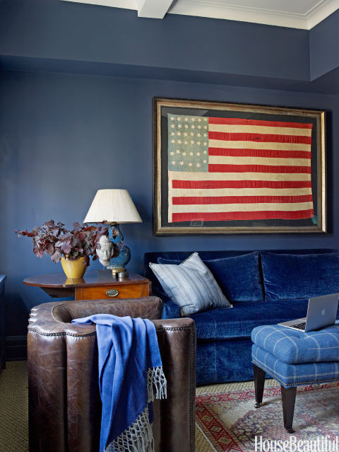 Feature friday red white and blue decor southern for American flag bedroom ideas