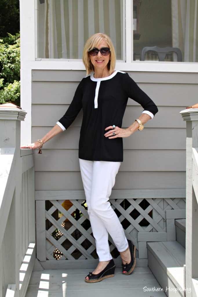 Fashion Over 50 Black And White Southern Hospitality