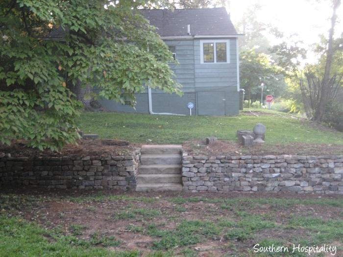 backyard paradise bucks backyard stone wall_20150723