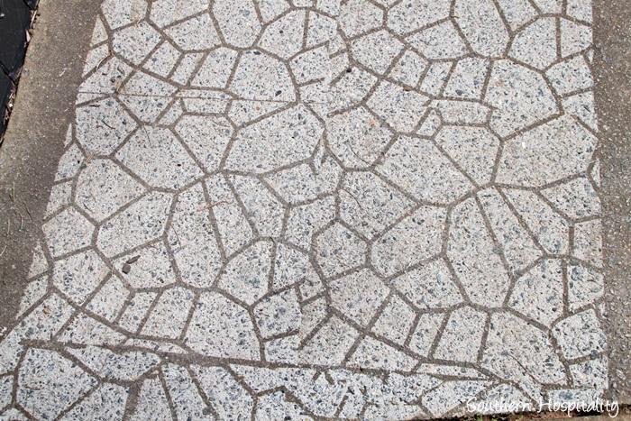 cobblestone stencil close