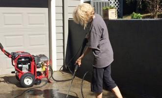 Pressure Washing my Driveway
