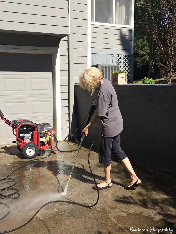 Pressure Washing my Driveway - Southern Hospitality