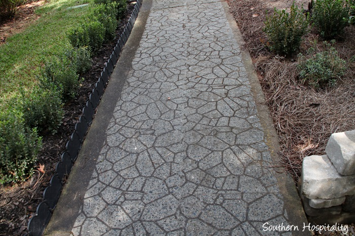 sidewalk stenciled after
