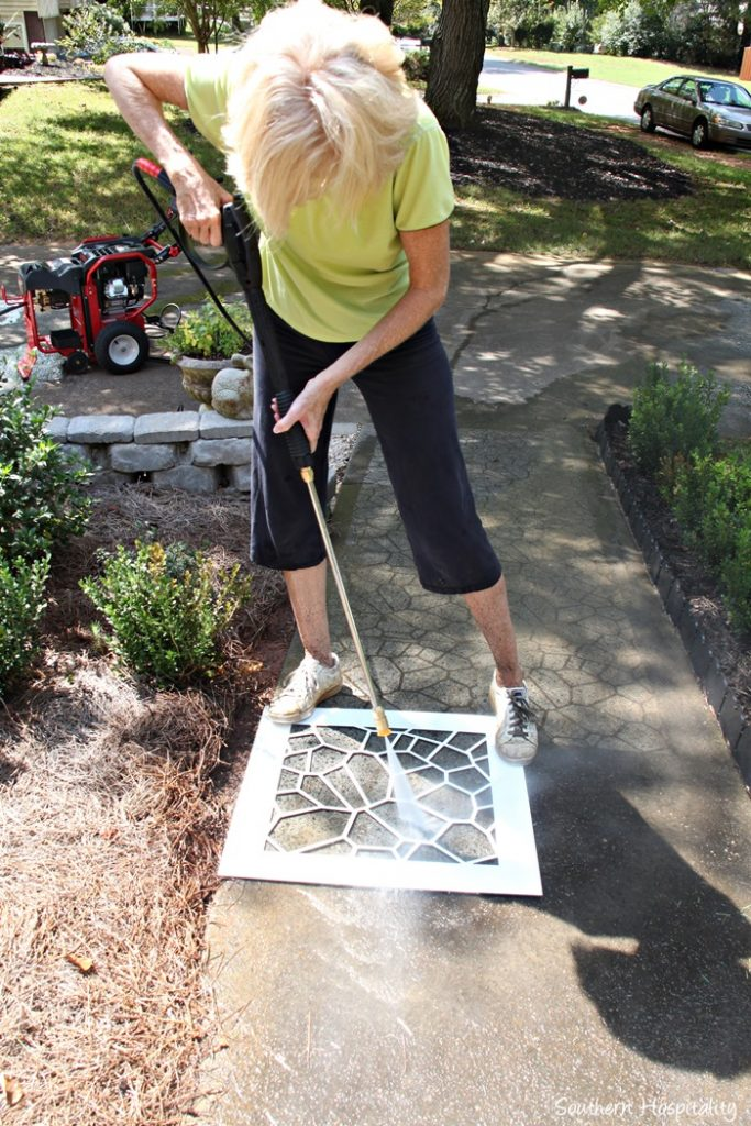 stenciling sidewalk
