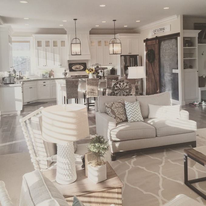 Kitchen Great Room At Dusk: Feature Friday: Yellow Prairie Interiors